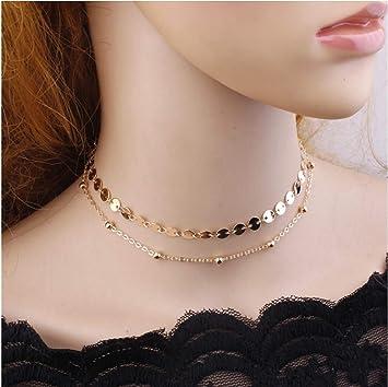 Catherine Cow Collier avec pendentif en forme de cadenas en acier inoxydable pour femme et homme