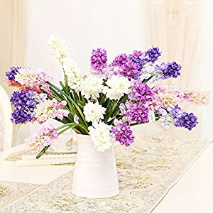 Riverbyland Artificial Assorted Colors Hyacinth Bunches of 10 Flowers 44