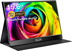 """Portable Monitor - Upgraded 15.6"""" USB-C Computer Monitor, 1080P Full HD IPS Panel, Ultra-Slim HDR Gaming Monitor, Stereo Speakers, OSD Menu, Type-C & HDMI Ports for PC Laptop Phone PS4 Xbox"""