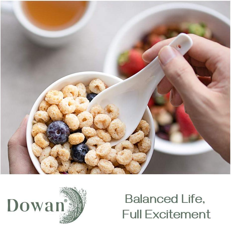 DOWAN 12-Pack Soup Spoons White Bone China 010104150515056