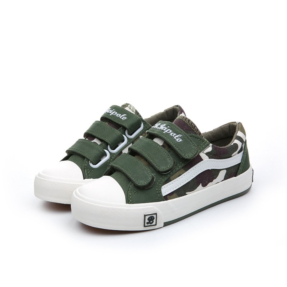 xiaoyang Kids Sneakers Casual Canvas Shoes Solid Colors Low Top Lace up Flat