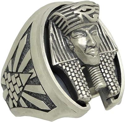 bague argent homme horus