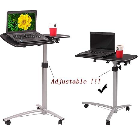 Amazon.com: Mesa auxiliar de escritorio para ordenador ...
