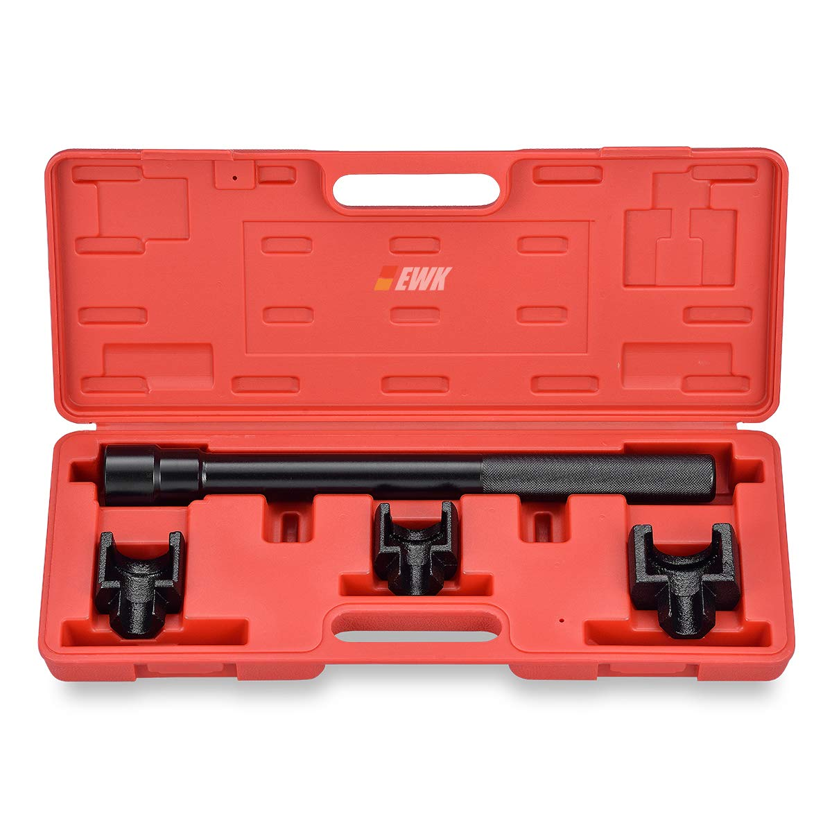EWK Dual Inner Tie Rod Tool Removal Set with 3 Adapters 1-3/16'' 1-5/16'' 1-7/16'' for Ford Chrysler GM by EWK (Image #1)