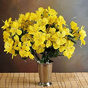 Tableclothsfactory 96 Artificial Mini Primrose Flowers - Yellow 72