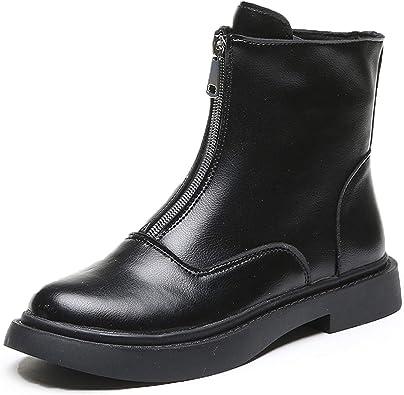 black flat platform boots