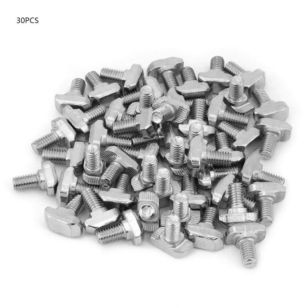 Akozon T-Typ Schraube T-Typ Schraube 20//30//40//45 Serie T-Schrauben M5 M6 M8 Industrielle Aluminiumprofile Schraube EU-Norm 30 Serie M6 *16 50St