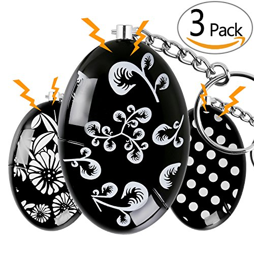 OUTDRSY Emergency Personal Alarm Keychain Pack of 3, 120dB Siren Alarm Self Defense Fit Women, Kids, Night-Walker (Pack of 3)