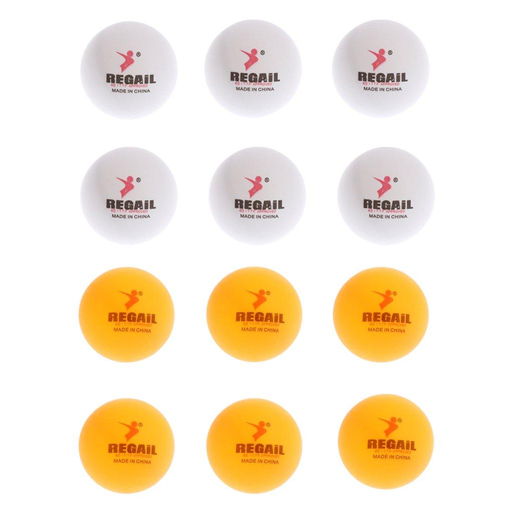 FLAMEER 12 Pcs de Bolas de Tenis Ping Pong Accesorio para Entrenador para Torneo