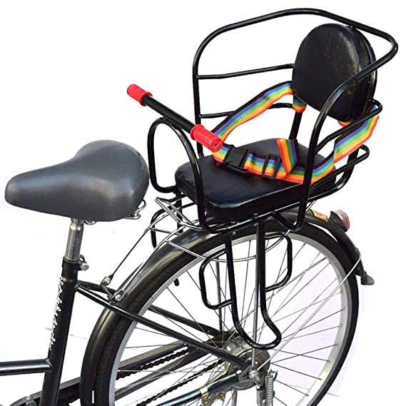 FOKOM Child Quick Release Seat Bicycle Front Dismounting Seat with Armrest and Pedal