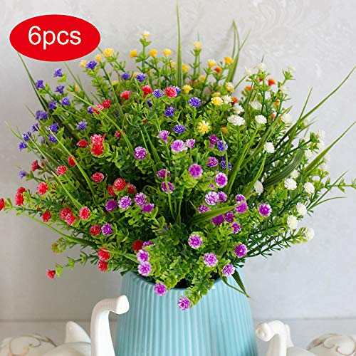Artificial Flowers 6pcs Babys Breath Flowers for Wedding for sale  Delivered anywhere in Canada