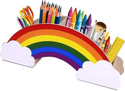 Gamenote portalápices de madera arcoíris, para mesa de niños ...