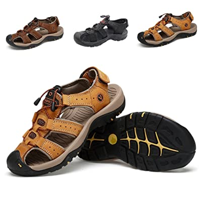 Summer Sports Sandals Outdoor Men's Beach Shoes Leather Casual Fisherman Shoe Korean Water Sandal
