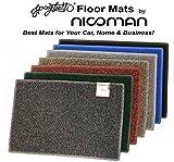 Nicoman Hallway Kitchen Fireplace Patio Runner Non-Slip Long Floor Rug Mat(60x150cm,Black)