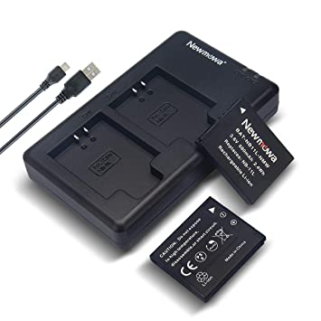 Newmowa NB-11L/11LH Battery (2 Pack) and Dual USB Charger Kit for Canon NB-11L/11LH and Canon PowerShot A2300 is, A2400 is, A2500, A2600, A3400 is, ...