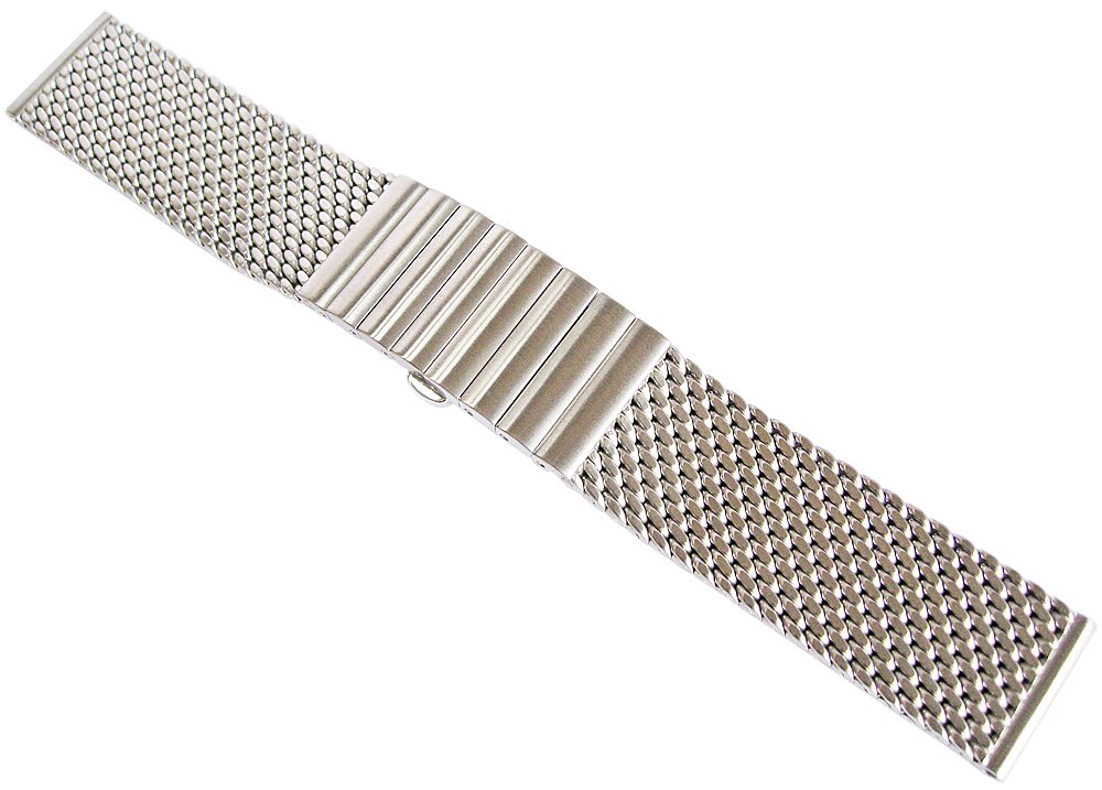 Staib 20mm Matte Mesh Long 170mm Steel Watch Band Model 2792 by Staib