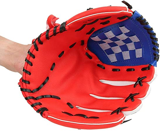Acidea Baseball Glove Sports Batting Gloves with Baseball PU Leather Adjustable and Comfortable for Kids Youth Adults Right Hand Throw Left Hand Glove