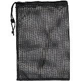 "Champion Sports 12x18"" Heavy Duty Nylon Mesh Equipment Bag w/Drawstring, Black"