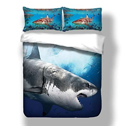 Amazon.com: APJJQ Shark Bedding Set Full/Queen for Kids,Microfiber