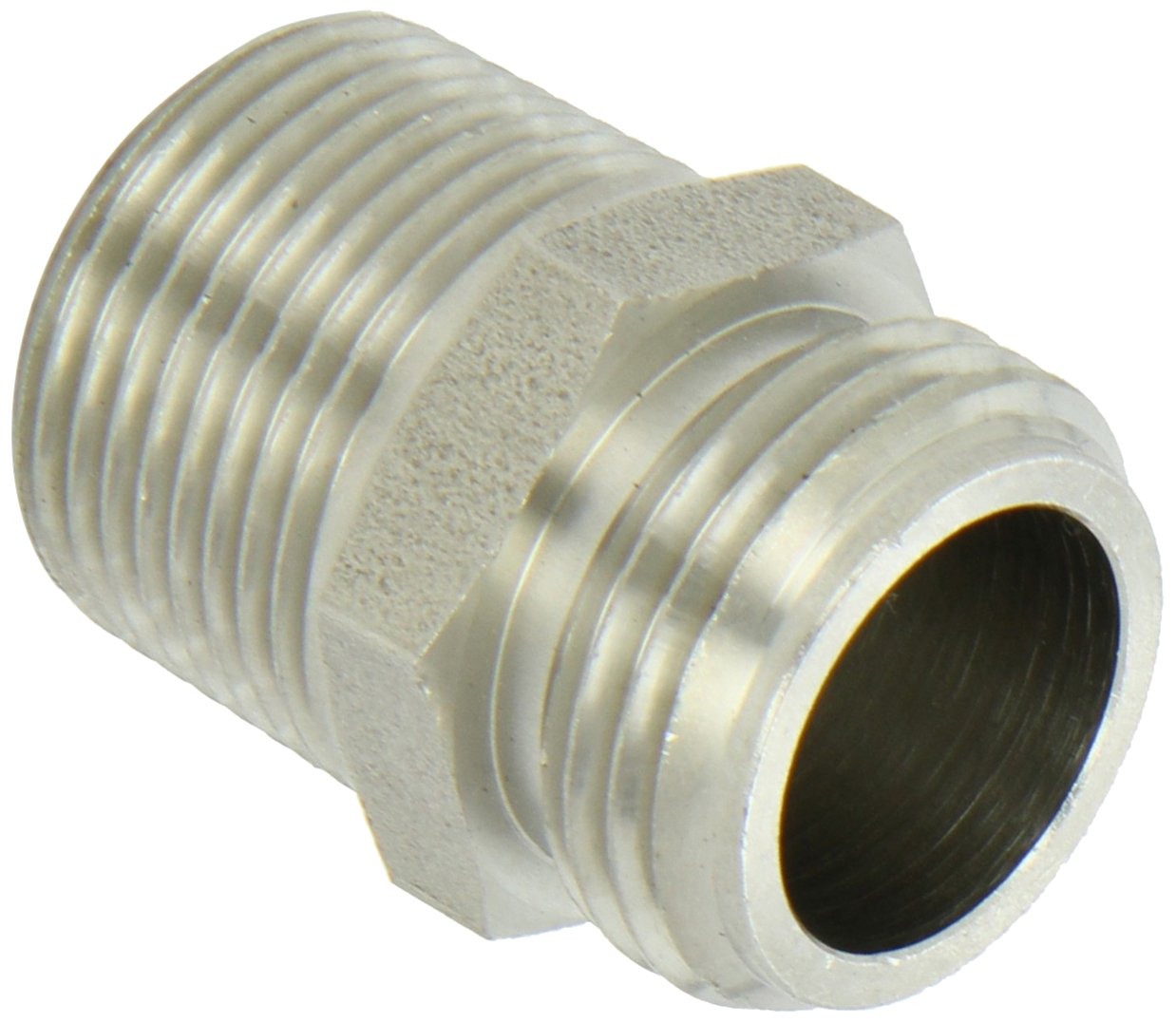 Dixon RA776 Stainless Steel 303 Brass Fitting, Adapter, 3/4'' GHT Male X 3/4'' NPTF Male