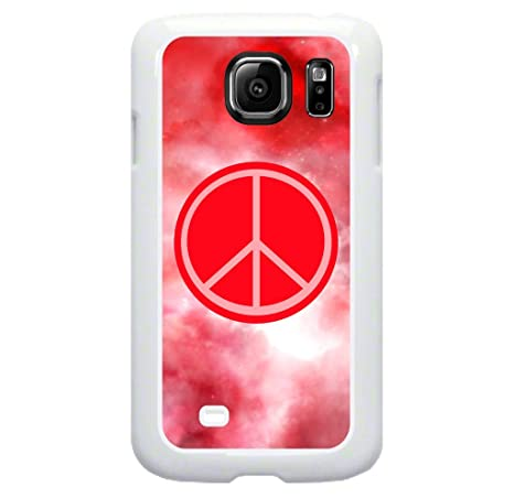 Amazon Pink Peace Sign Tm Plastic Case In White For The