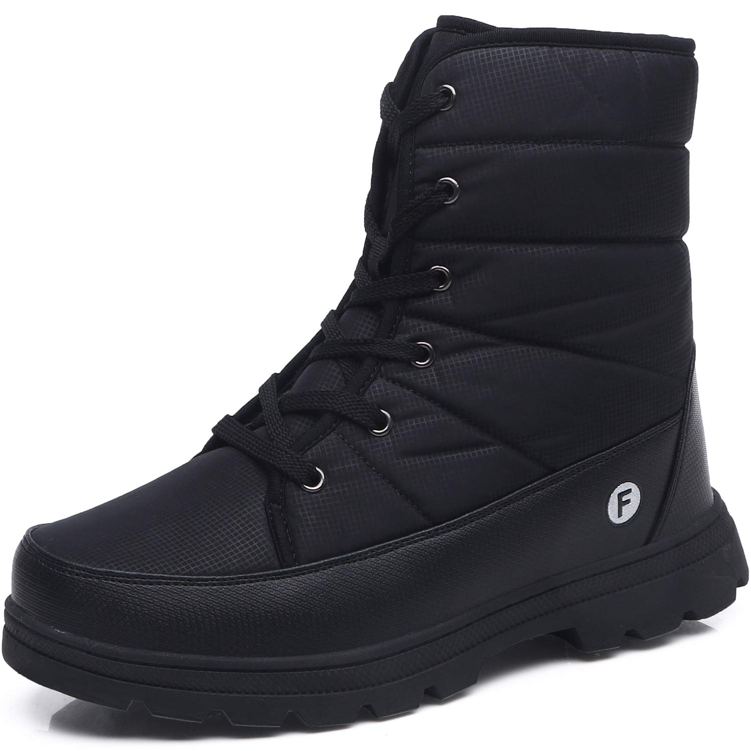 JOINFREE Couples Winter Shoes Snow Boots Warm Fur Waterproof Mid Calf Lightweight Snow Shoes