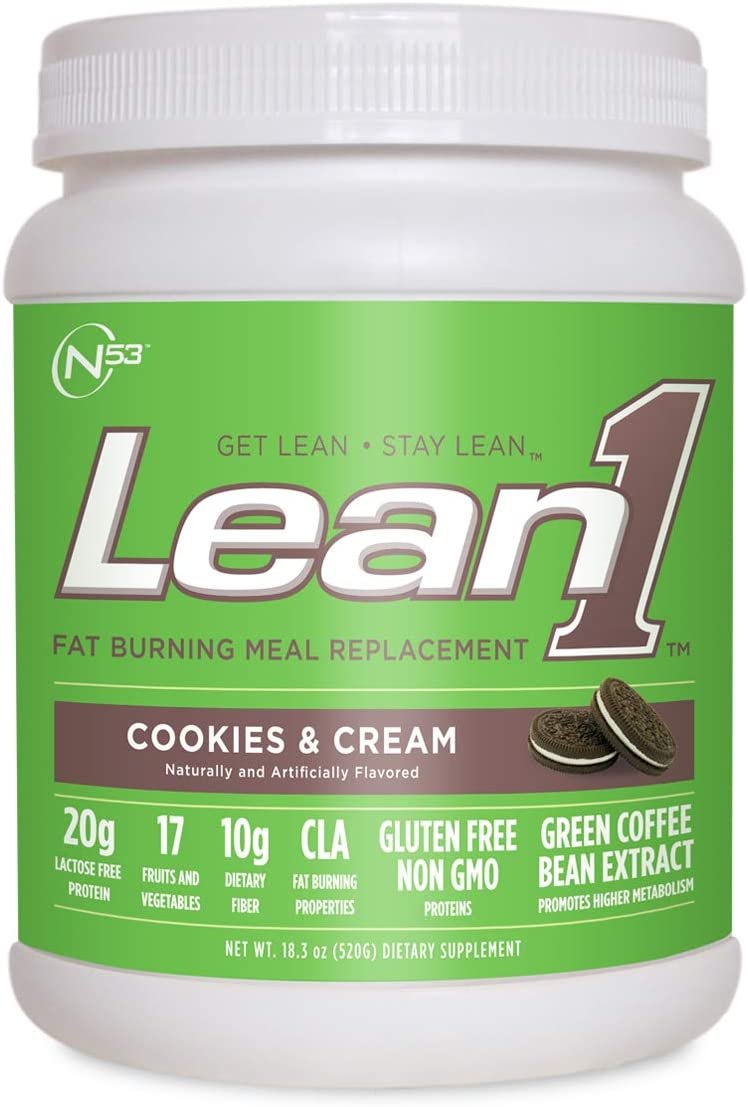 Nutrition53 Lean1 Shake, Cookies and Cream, 1.3 Pound