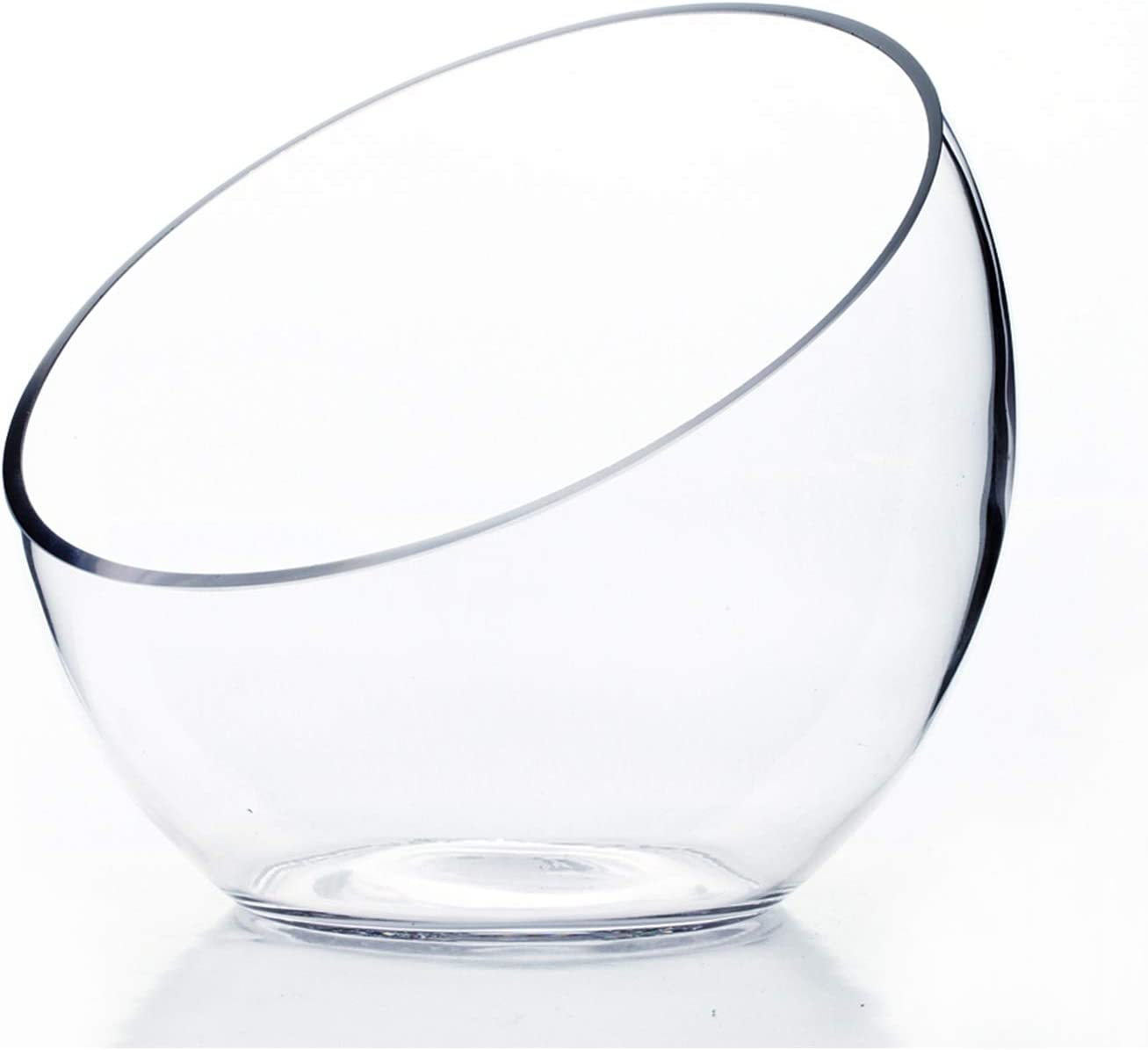 Wgv Clear Slant Cut Bowl Glass Vase Glass Terrarium 6 Inch X 2 7 Inch Amazon Ca Home Kitchen