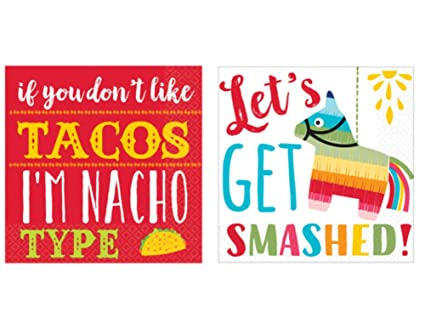 Lets Fiesta 16 Count Mexican Fiesta Cocktail Beverage Napkins