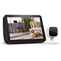 $69 » Echo Show 8 Charcoal with Blink Mini Indoor Smart Security Camera, 1080 HD with Motion Detection