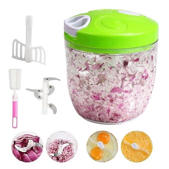 Picadora de alimentos manual Procesador de alimentos manual 5 ...