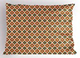 Ambesonne Mexican Pillow Sham, Colorful Ethnic Pattern Retro Colors Checkered Pattern Geometric Indigenous Details, Decorative Standard Queen Size Printed Pillowcase, 30 X 20 inches, Multicolor