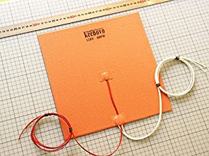 "280mm X 280mm( 11"" x 11"") 120V 600W, with 3M PSA & NTC 100K thermistor, KEENOVO Silicone Heater Pad Huge 3D Printer HeatBed Build Plate Heater from Keenovo International Group Limited"