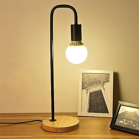 IBalody Lámpara de Mesa de Madera Simple Luces de Escritorio Luces ...