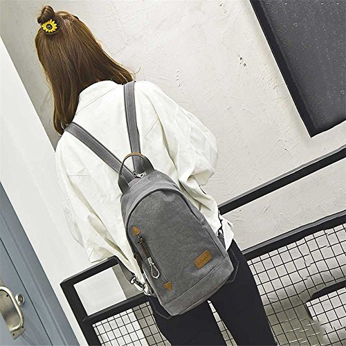 Fangyou1314 Messenger Bag Small Canvas Korean Chest College Backpack Multifunctional Leisure Shoulder YrqYEUw