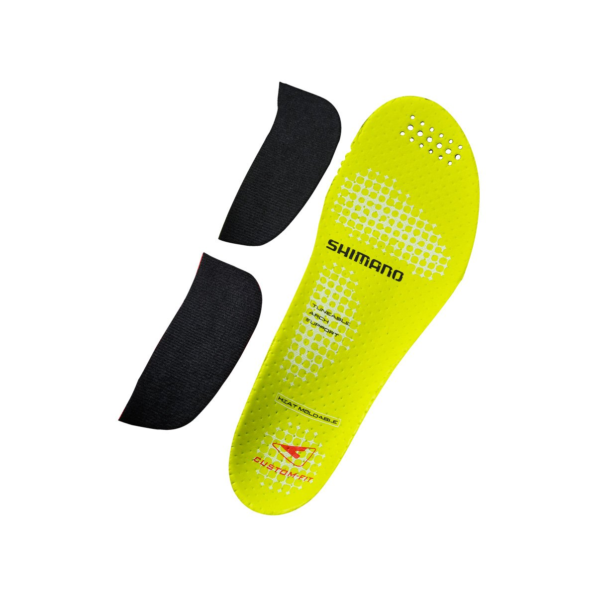 Shimano ESMSHRC9INCF サイクリングシューズ用インソール カスタムフィット B06XJSDP4S 42-43.5|イエロー イエロー 42-43.5