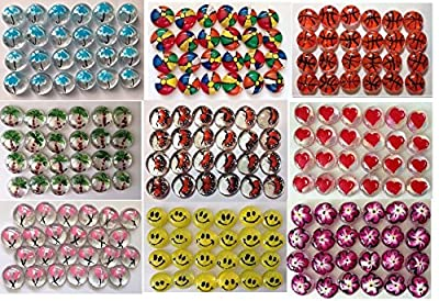 Jazzy Glass Gems, Hand Painted Set of 24, Party Favor, Decoration, Mosaic Tile, Crafts etc,