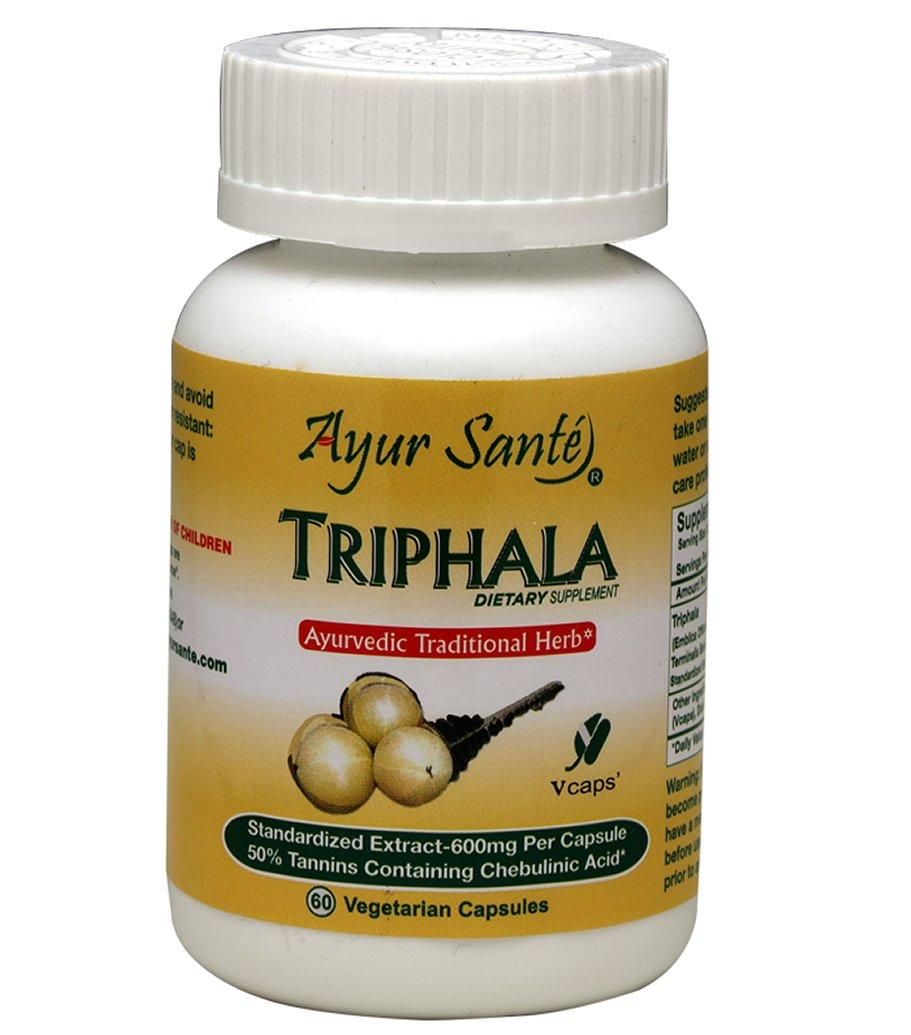 Triphala-Extract 600mg Per Cap(50% Tanins containig Chebulic Acid-300 mg*) 60 Veg Caps
