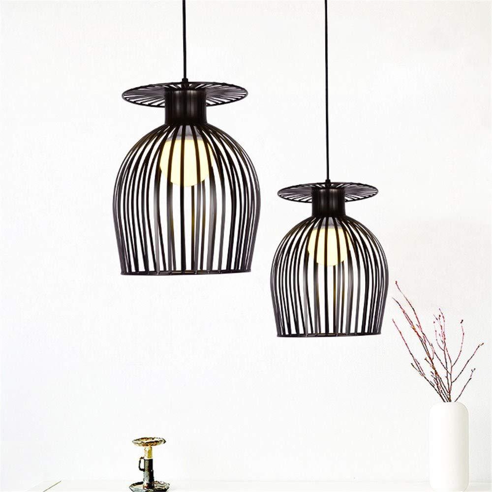 Moderne einfache Bar Hängelampe Weiß Schwarz Pendelleuchte Restaurant, Schlafzimmer, Nachttischlampen, moderne Kunst und kreative Beleuchtung, 25  30 CM