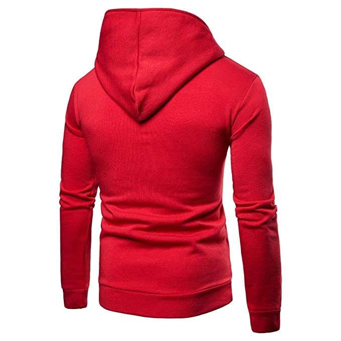 ZYEE Clearance Mens Long Sleeve Pure Color Zipper Pullover Hooded Sweatshirt Tops Blouse at Amazon Mens Clothing store: