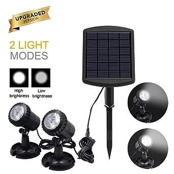 Luces solares para estanques Proyector para exteriores Focos ...