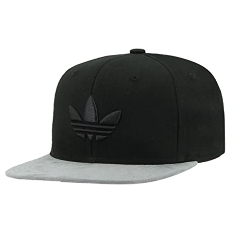 adidas Men\u0027s Originals Trefoil Chain Snapback Cap, Black Twill/Grey Suede, One Size Amazon.com: