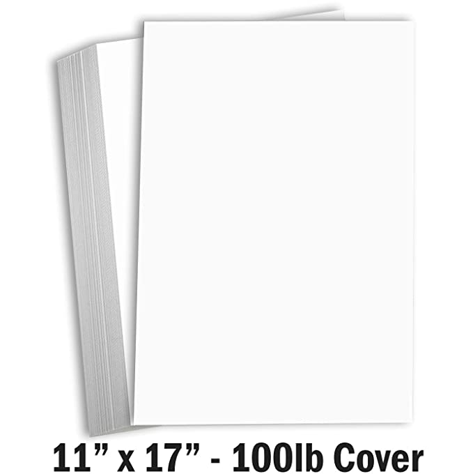 Amazon.com: Hamilco Cartulina blanca gruesa 11 x 17 papel ...