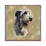 Pure Country 3323-LS Irish Wolfhound Pet Blanket, Canine on Beige Background, 54 by 54-Inch