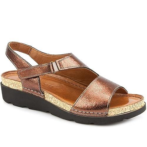 2ef10cbfc1d Pavers Casual Leather Slingback Sandal 309 780 - Bronze Size 4 (37 ...