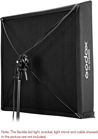 Leoie FL-SF6060 Softbox Kit with Honeycomb Grid Soft Cloth Carry Bag Flexible LED Light Roll-Flex Photo Light for Video Recording Photography