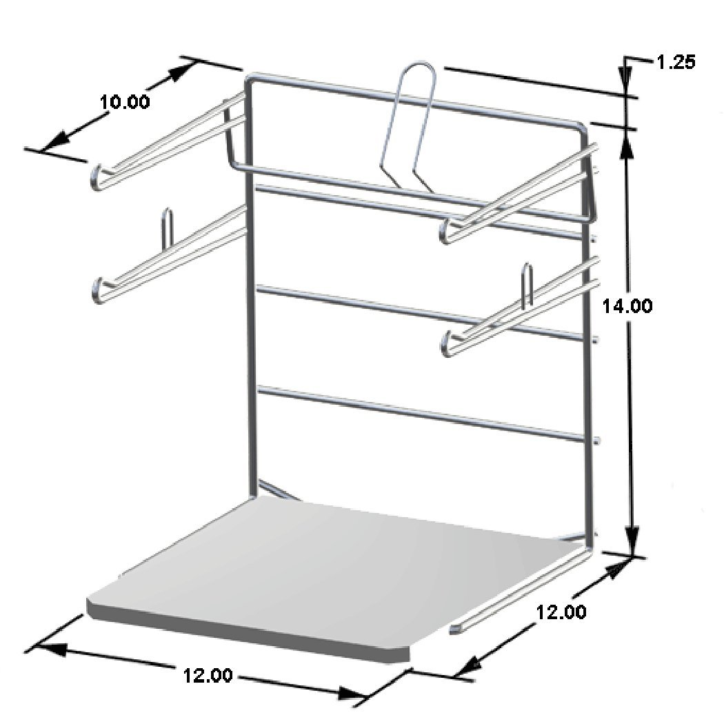 Well-known Amazon.com: T-Shirt Bag Rack Chrome Freestanding Retail Store  ED53
