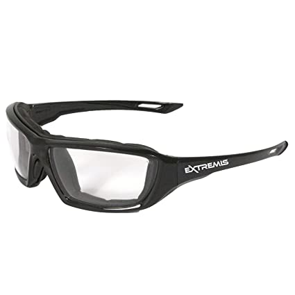 c62d7cf64b0 Amazon.com   Radians XT1-11 Extremis Full Black Frame Safety Glasses with  Clear Anti-Fog Lens   Home Improvement