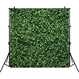 Allenjoy 8x8ft Fabric Green Floral Leaves Backdrop for Photo Studio Photography Still Life Grass Leaf Floordrop Pictures Background Summer Spring Party Home Decor Outdoorsy Theme Shoot Props Drop