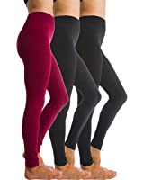 3-Pack Fleece Lined Thick Brushed Leggings Thights by Homma